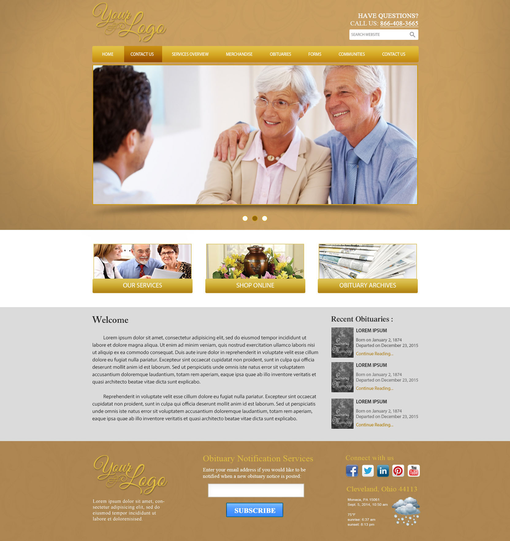 Theme Templates Funeral Results Marketing
