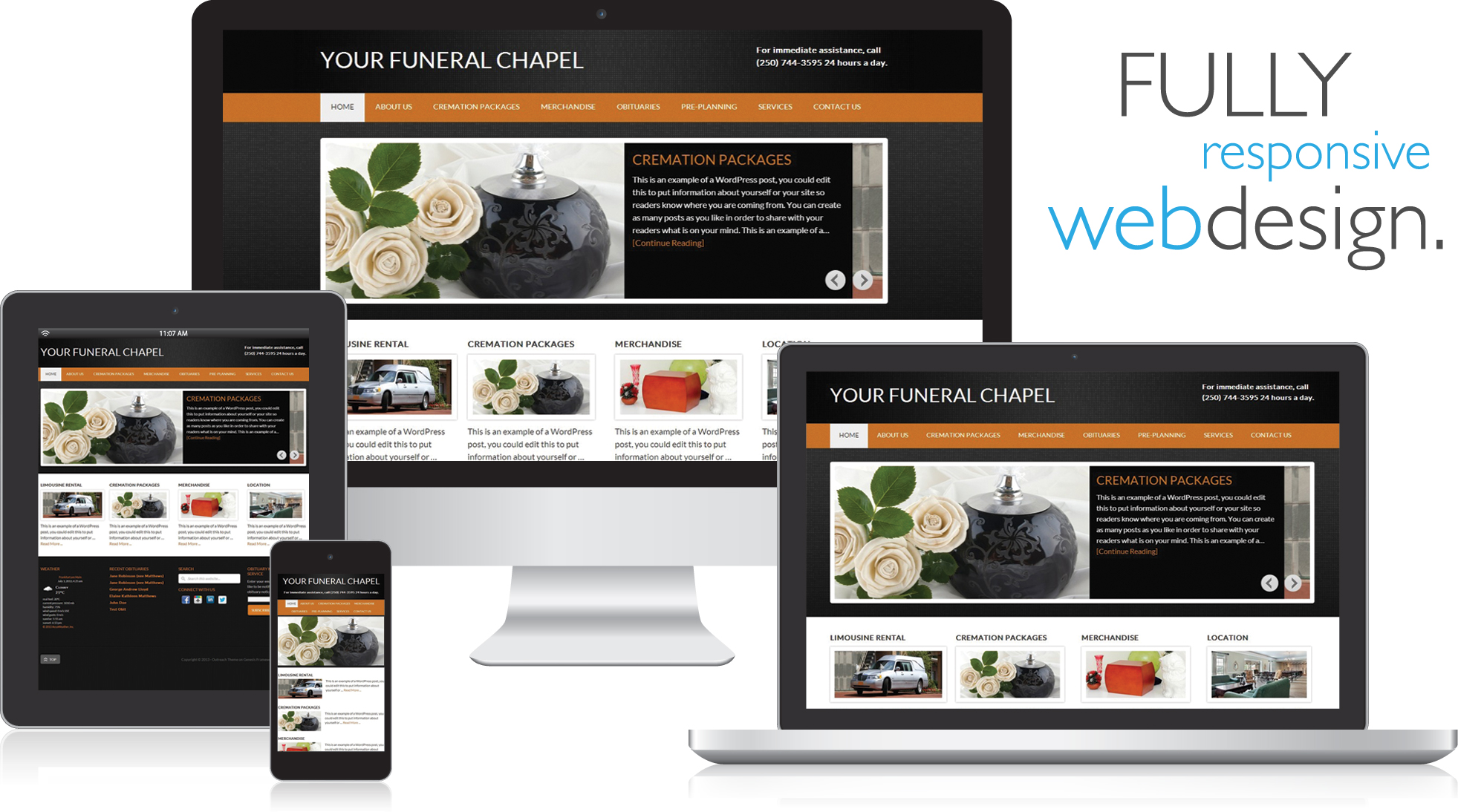 The best 100 funeral home website design image for Home design websites